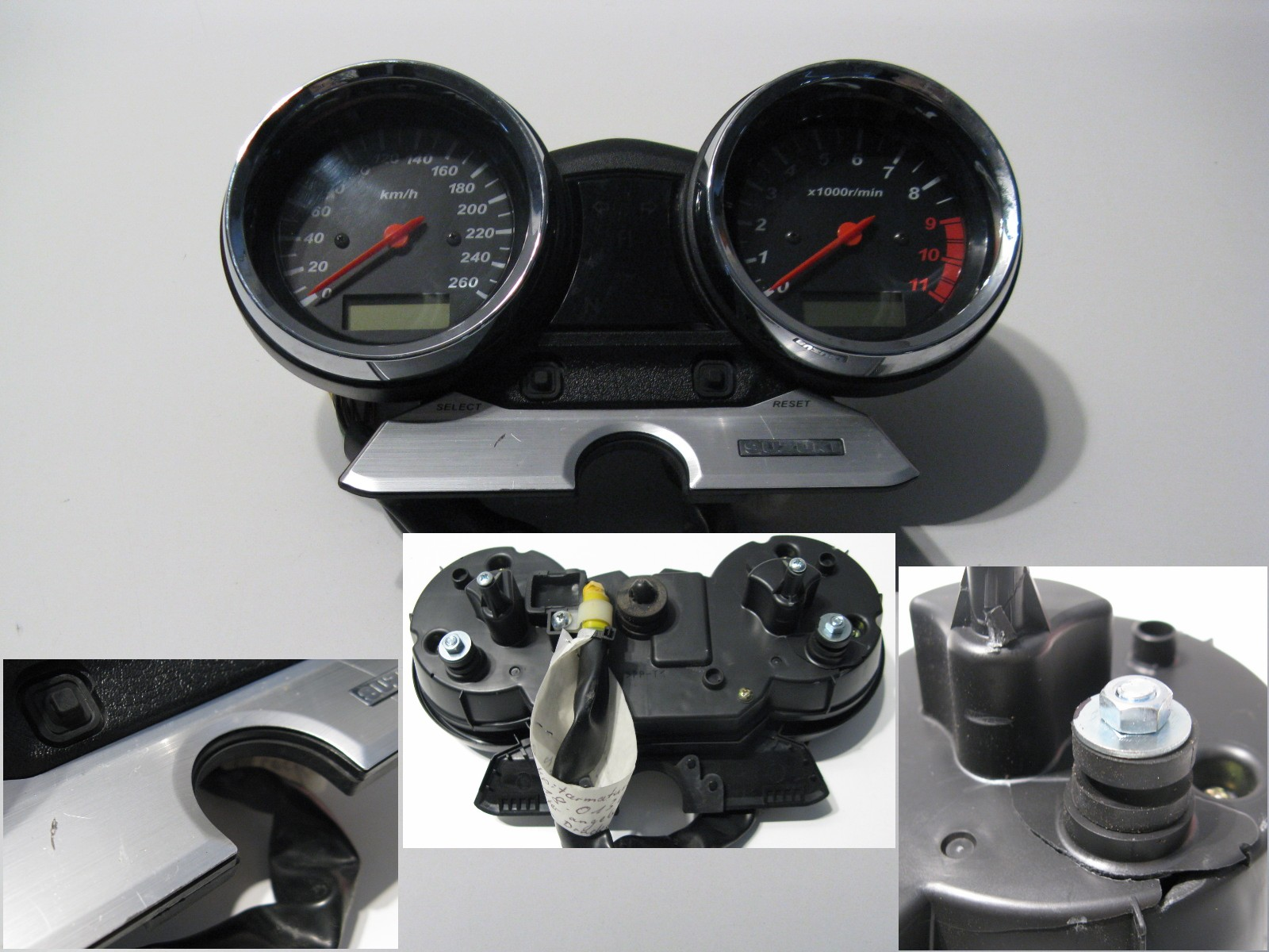cockpitarmaturen cockpit armaturen tacho suzuki gsx 1400. Black Bedroom Furniture Sets. Home Design Ideas